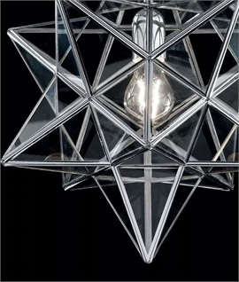 Chrome Star Hanging Lantern - 2 Sizes