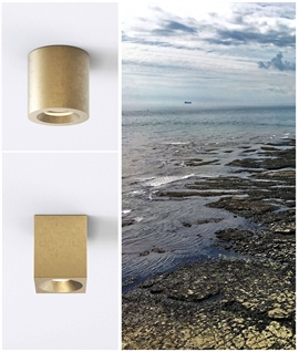 Coastal Brass Surface Mounted Downlight - Round or Square