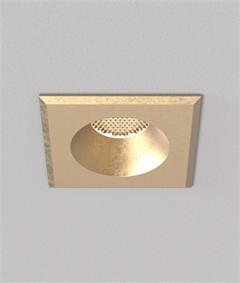 Natural Brass GU10 Soffit Downlights - Suitable for Use In Exposed Coastal Areas
