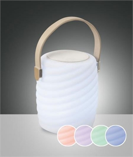 Colour Changing Table Lamp with Bluetooth Speaker