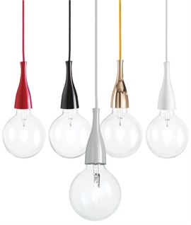 Minimal Bare Bulb Pendant - 5 Colours