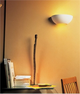 Compact Natural Finish Plaster Wall Light