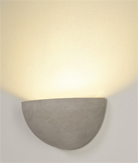 Conical Plaster Wall Light with Glass Panel