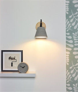 Urban Wood & Concrete Wall Light