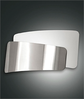 Satin Nickel and Glass Overlay Wall Light