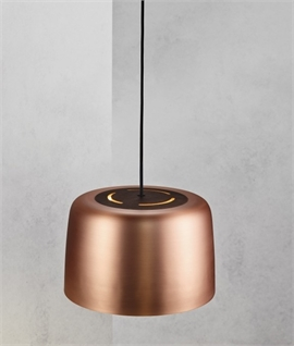Metal Pendant with Oiled Walnut Top
