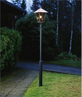 Copper & Glass Exterior Lamp Post 2.5m