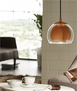 Trendy Combination Pendant in Copper or Chrome