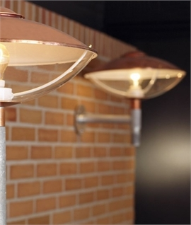 Steel & Copper Exterior Wall Light by Light Years