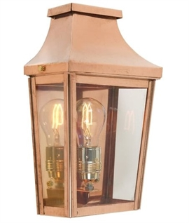 Traditional Half Lantern - Copper Finish