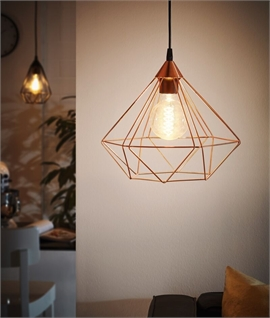 Black or Copper Hexagonal Single Pendant