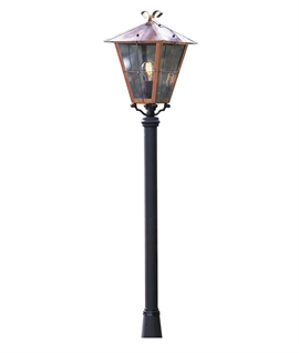 Traditional Copper Four Panel Pathway Light