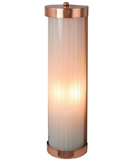 Reeded Glass Wall Lights