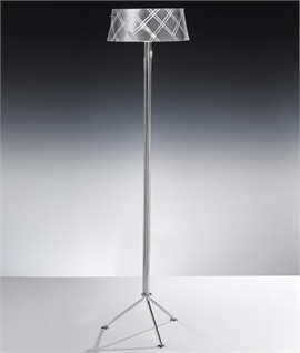 Cut Glass Metallic Foil Floor Lamp