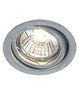 Mains Tilt Downlight - Galvanised Steel