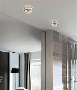 Recessed Downlight for GU10 lamps with Decorative Crystal Beads