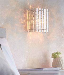 Pretty Clear Crystal Rod & Droplet Wall Light