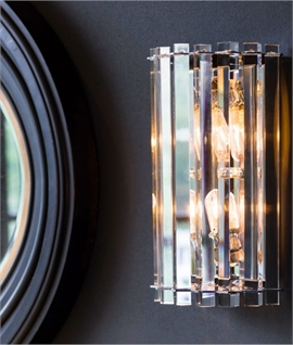 Crystal Prism and Chrome Wall Light IP44 rating