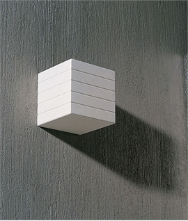 The Cube Plaster Wall Light Size 115mm