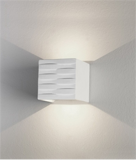 Matt White LED Square Wall Light