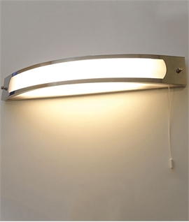 Polished Chrome LED Over Mirror Light IP44