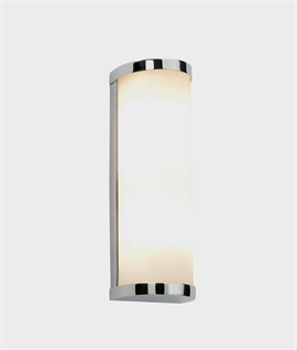 Cylindrical Chrome & Glass Wall Light H:250mm