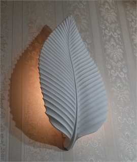 Leaf Plaster Wall Light - Charme