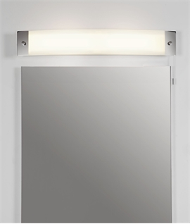 Over Mirror Light Polished Chrome & Opal Glass IP44