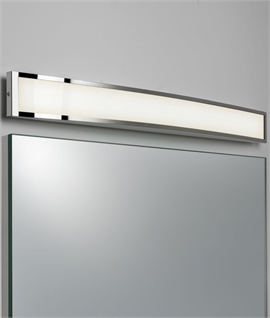 ... Diffused LED Over Mirror Light W:640mm Chrome U0026 Opal Glass