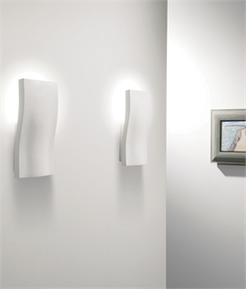 Curvaceous LED Back-Lit Wall Light - Indirect Glare-free Lighting