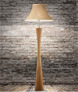 Curved Base Floor Lamp with Hemp Shade