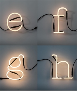 Neon Art Letters from A to M and Linkable