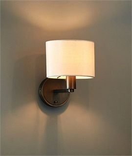 Contemporary Switched Wall Light with Shade