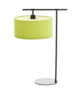 Dark Brown Table Base with Lime Shade
