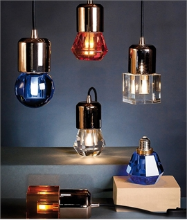 Stylised & Quirky LED Lamps - Decorative Glass/Crystal Perfume Bottles