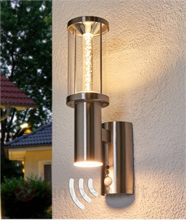 Decorative Exterior Up & Down Wall Light with PIR