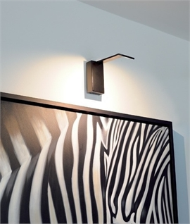 Modern LED Wall Display Light in White, Black or Brass