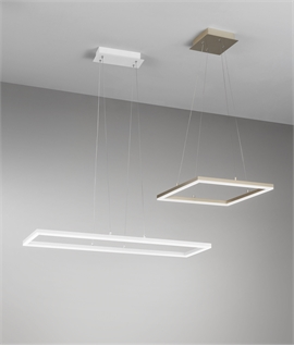LED Suspension Pendant - Gold or White