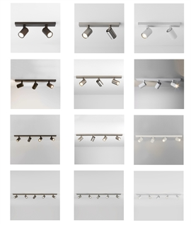 Modern Spot Light Bar - White, Bronze or Nickel
