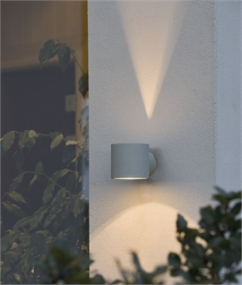 Round Wall Light with Fan Light Effect