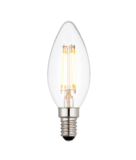 E14 4w LED Filament Candle Lamp - Dimmable