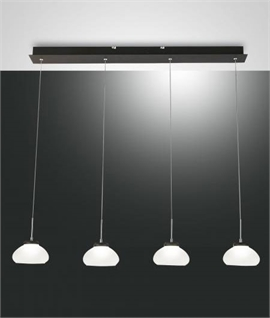 Blown Glass Suspension Bar Light - Integrated LEDs