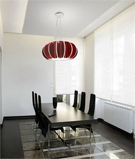 Modern Red and White Suspended Ceiling Light