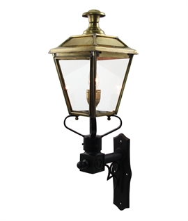 Vintage Wall Lantern with Black Wall Bracket