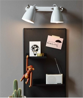 Plugged Metal Wall Lights - 2 or 3 Spot