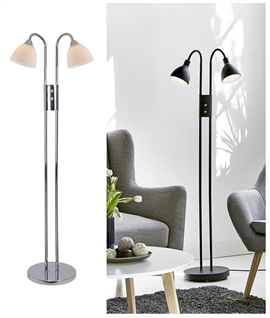 Double Lamp Floor Light with Dimmer