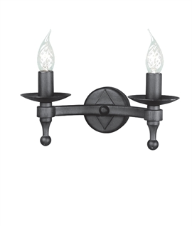 Medieval Style Black Double Wall Light