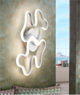 Double Swirl LED Wall or Ceiling Light