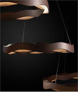 Wavy Circular Suspended Pendant - LED