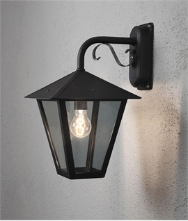 Hanging Exterior Wall Lantern - 2 Finishes